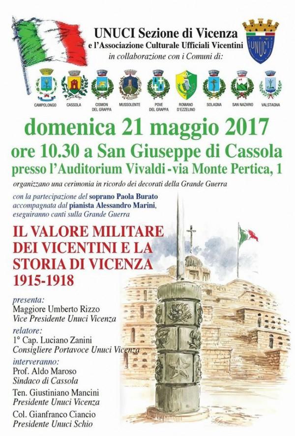 Il valore militare dei Vicentini e la storia di Vicenza 1915 - 1918