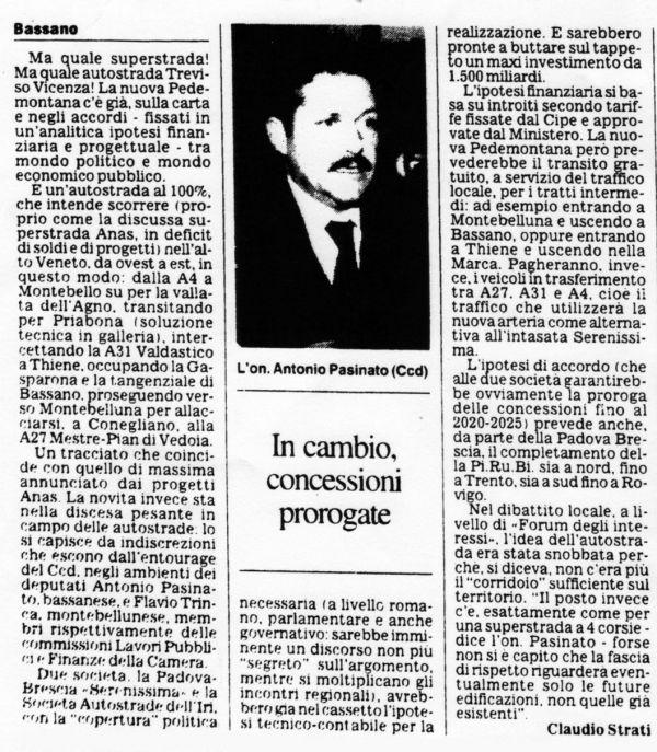 Articolo di Claudio Strati 1995
