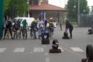 Corsa bici senza coppertone