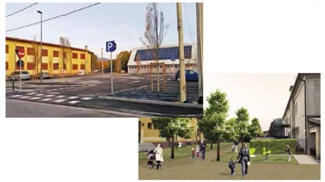 parcheggio in via Loria e al via i lavori per la creazione del parco